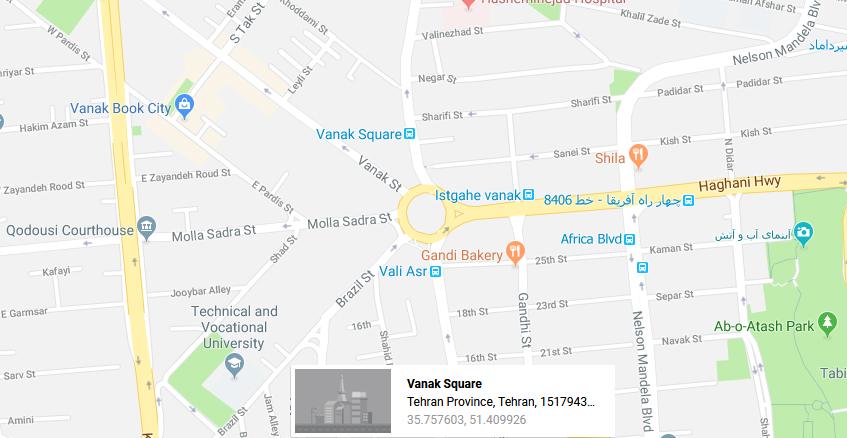 خدمات چاپ در میدان ونک