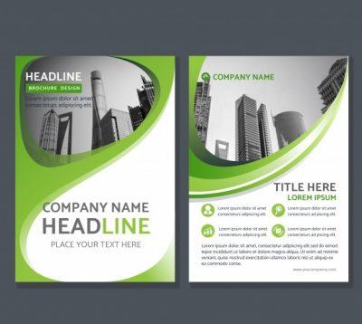 green corporate abstract1 - دانلود کارت تراکت خلاقانه شرکتی سبز