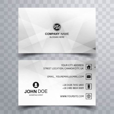 modern geometric business card template design 1035 13047 - دانلود کارت ویزیت هندسی کسب و کار رایگان