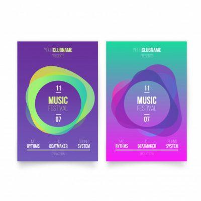 modern music poster template 1361 470 - دانلود تراکت موزیک بصورت رایگان