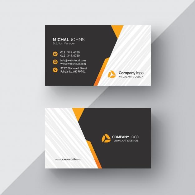 کارت ویزیت تجاری سیاه و سفید