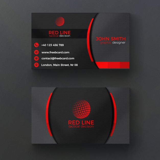 دانلود رایگان کارت ویزیت شرکتی قرمز و سیاه