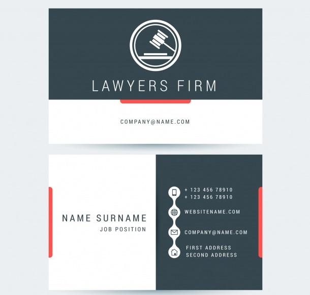 دانلود رایگان کارت ویزیت برای وکلا