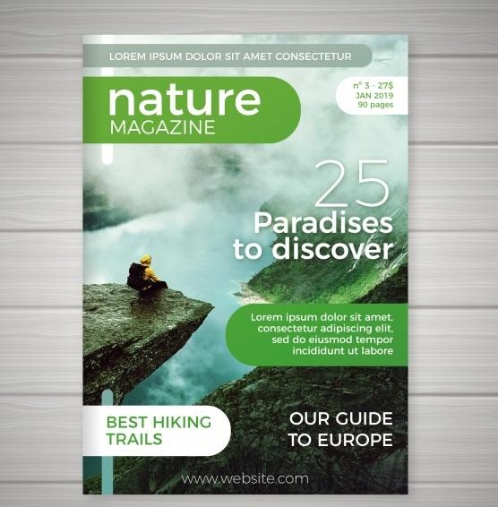 تراکت جلد مجله طبیعت همراه با عکس
