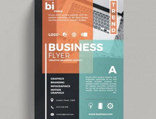 دانلود تراکت تجاری با طرح انتزاعی همراه با عکس