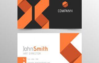 abstract orange and black business card template 23 2147735320 1 320x202 - دانلود کارت ویزیت پرتقالی و سیاه و سفید تجاری