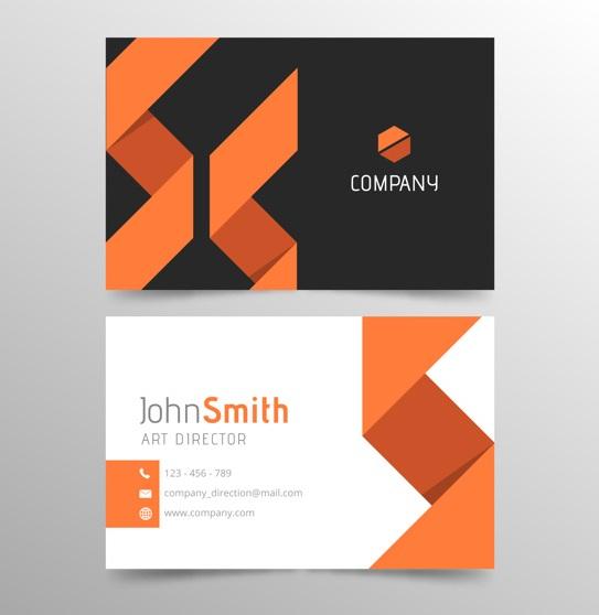 دانلود کارت ویزیت پرتقالی و سیاه و سفید تجاری