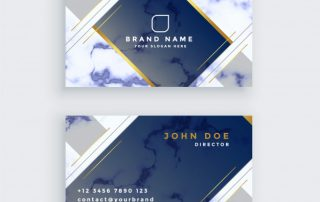 blue marble business card template 1017 14285 320x202 - دانلود کارت ویزیت تجاری آبی و سفید