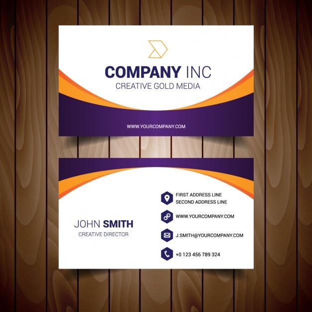 دانلود کارت ویزیت شرکتی با رنگ سفید و نارنجی