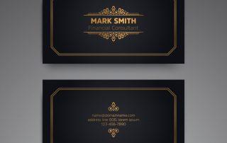 card vintage 320x202 - دانلود طرح لایه باز کارت ویزیت مشکی با اشکال تزئینی