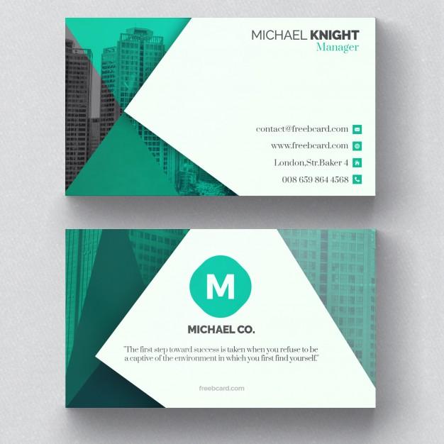 کارت ویزیت شرکتی با رنگ سبز
