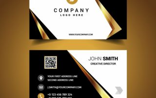 luxury business card design 1281 325 320x202 - دانلود طرح لایه باز کارت ویزیت لوکس تجاری