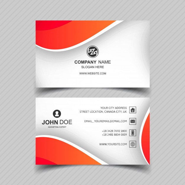 دانلود فایل لایه باز کارت ویزیت شرکتی با طراحی موج دار