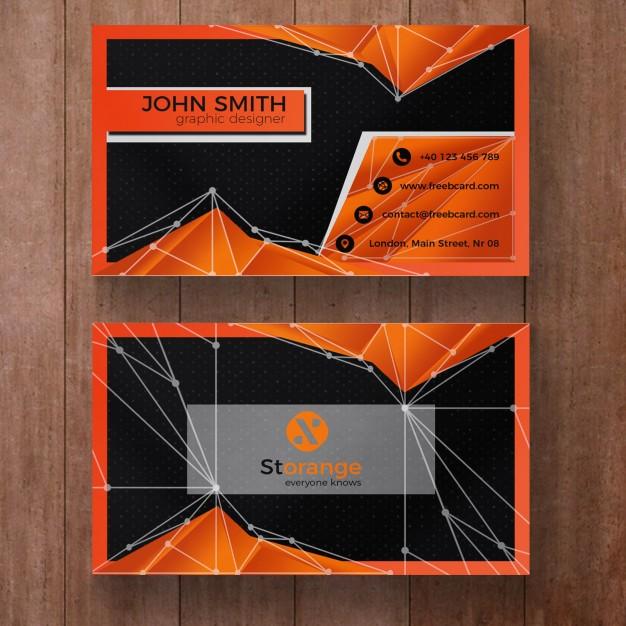 فایل لایه باز کارت ویزیتشرکتی چند منظوره با رنگ نارنجی