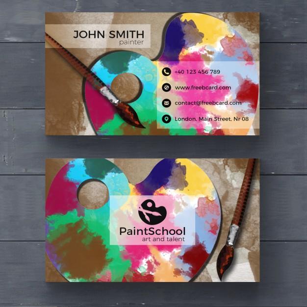 فایل لایه باز کارت ویزیت شرکت هایی برای هنرهای زیبا