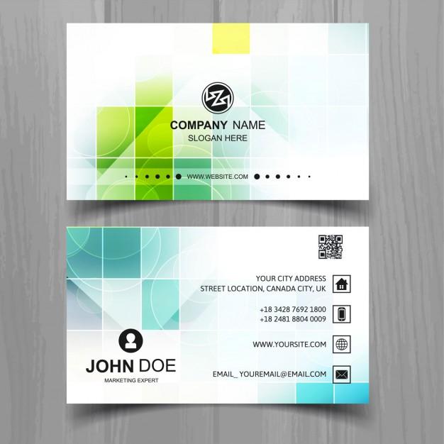 فایل لایه باز کارت ویزیت کارخانه ای مدرن با اشکال مربعی
