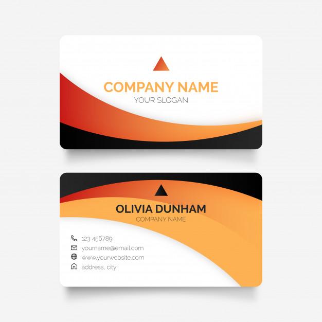 دانلود کارت ویزیت تجاری زیبا بصورت لایه باز