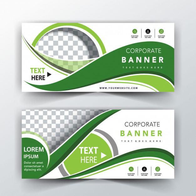 دانلود کارت ویزیت سفید و سبز انتزاعی