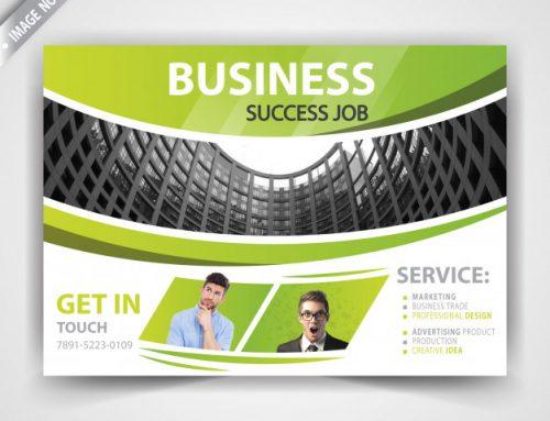 دانلود کارت ویزیت تجاری سبز رنگ