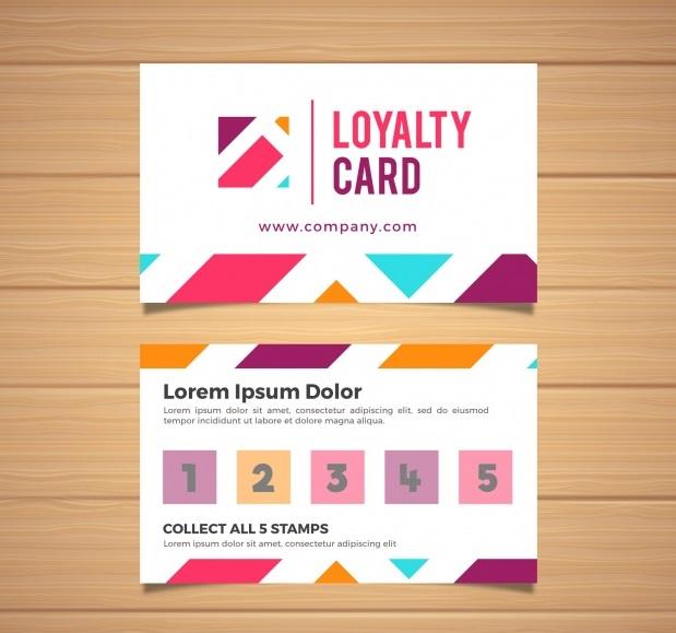 دانلود کارت ویزیت طرح انتزاعی با رنگهای متنوع