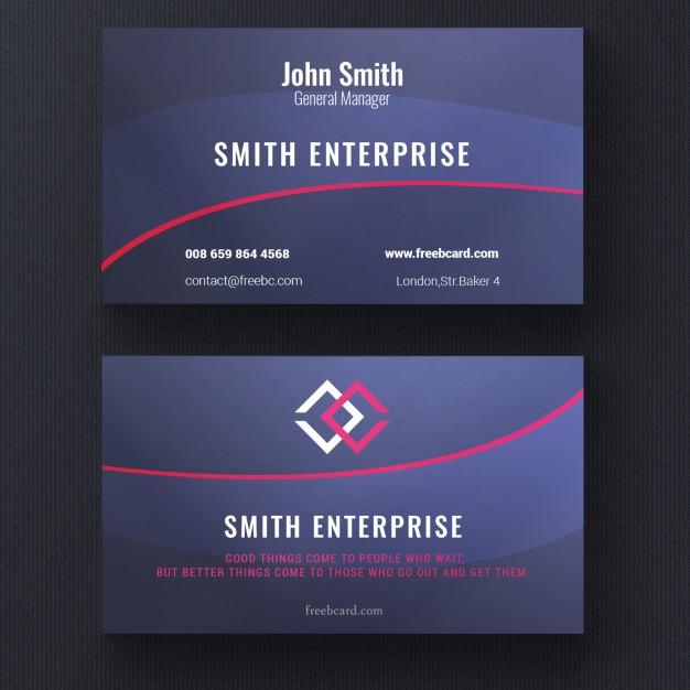 دانلود کارت ویزیت مدرن قرمز و آبی بصورت لایه باز psd