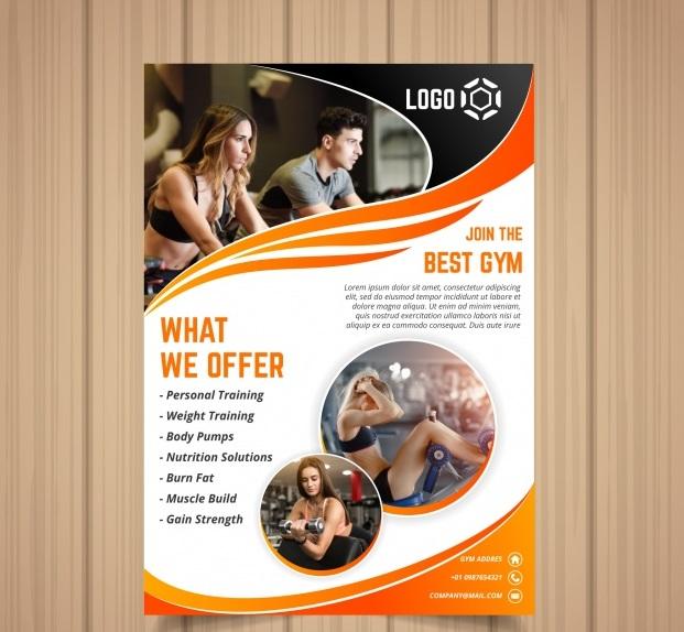 gym cover template with image4 - دانلود کارت تراکت ورزشی