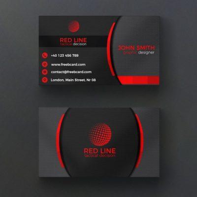 corporate red and black business card 1051 1222 - دانلود رایگان کارت ویزیت شرکتی قرمز و سیاه