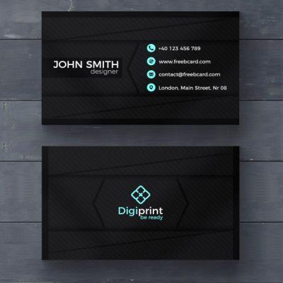 dark business card template 1051 1332 - دانلود کارت ویزیت تجاری مشکی