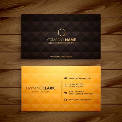 diamond shapes golden business card 1017 3667 - دانلود رایگان کارت ویزیت تجاری طلایی