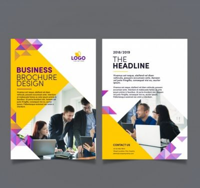 abstract modern business - دانلود رایگان تراکت تجاری با طرح انتزاعی