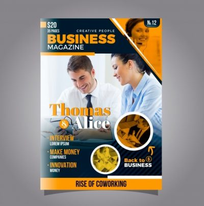business magazine cover template with photo 23 2147842269 - دانلود رایگان تراکت تجاری همراه با عکس