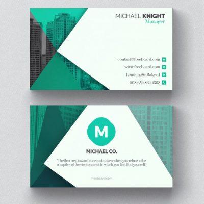 corporate green - دانلود کارت ویزیت شرکتی با رنگ سبز