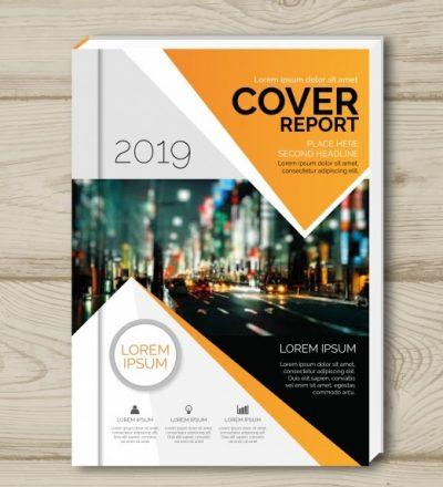 cover template - دانلود تراکت تجاری با رنگ نارنجی و سفید همراه با عکس