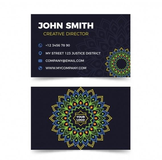 دانلود کارت ویزیت تجاری زیبا در سبک ماندال