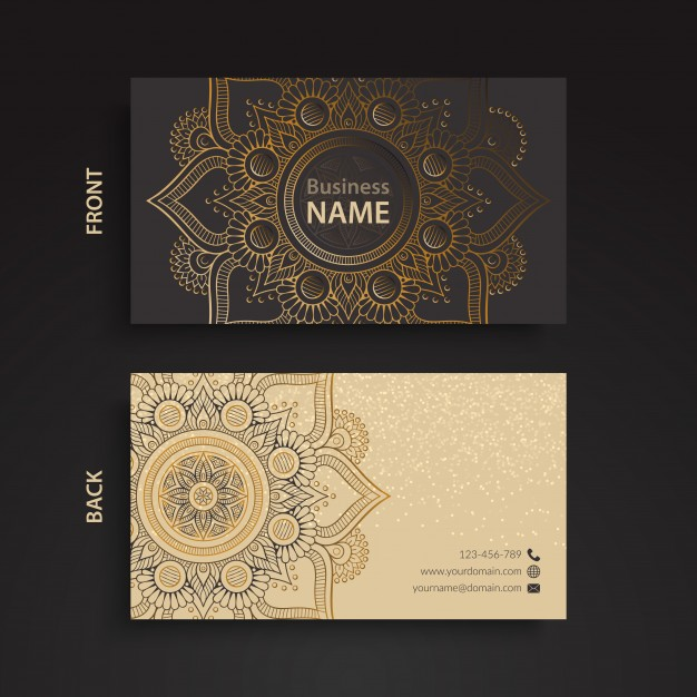 دانلود کارت ویزیت تجاری به سبک قومی
