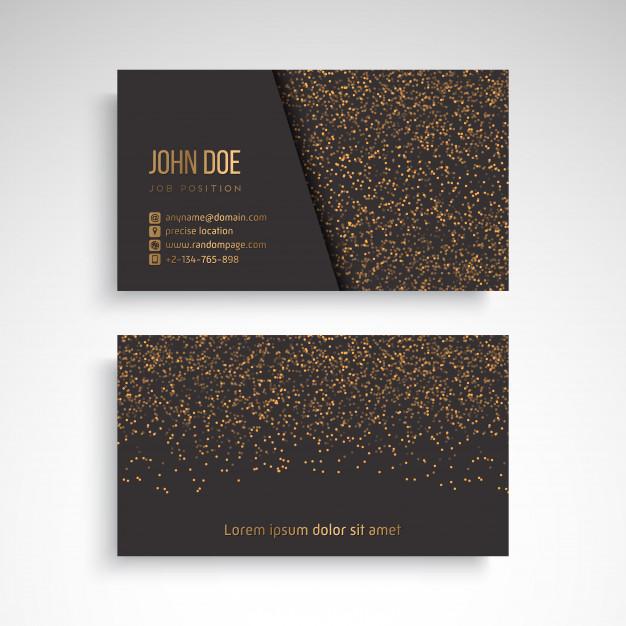 دانلود کارت ویزیت کسب و کار با عناصر تزئینی