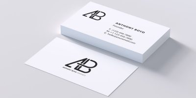 business cards mockup business cards mockup 100 free business card mockup psd css author free - ویژگی های یک کارت ویزیت خوب چه هستند؟