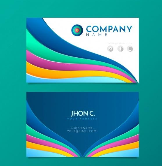 دانلود کارت ویزیت مدرن با طراحی انتزاهی