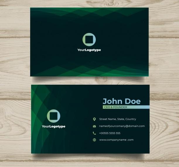 دانلود کارت ویزیت تجاری با طراحی انتزاعی