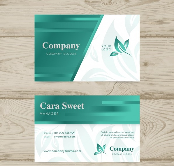 beautiful business card - دانلود کارت ویزیت تجاری با طراحی طبیعت