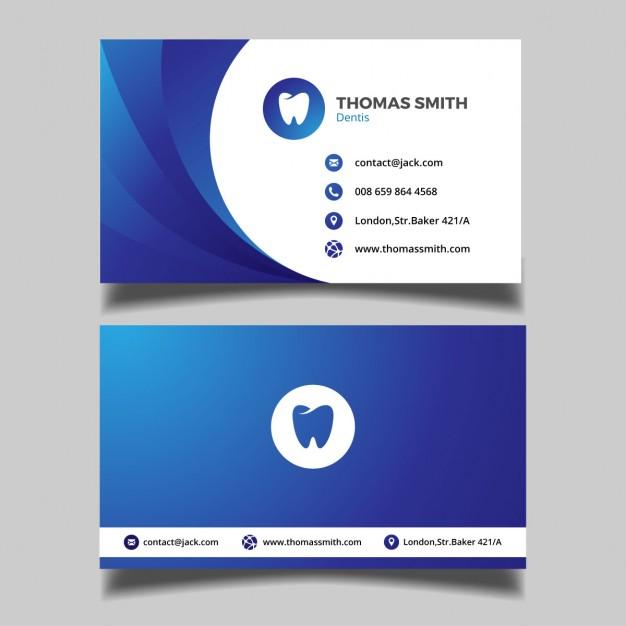 دانلود کارت ویزیت برای کار دندان پزشکی
