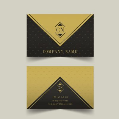 business card template 1 - دانلود کارت ویزیت تجاری زرد و مشکی
