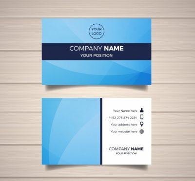 business card template 2 - دانلود کارت ویزیت تجاری آبی
