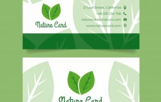 business card template 320x202 - دانلود کارت ویزیت تجاری با مفهوم طبیعت