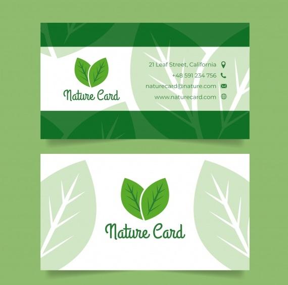 business card template - دانلود کارت ویزیت تجاری با مفهوم طبیعت