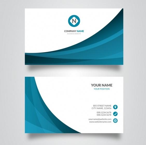دانلود کارت ویزیت کسب و کار تجاری با رنگ آبی و سفید