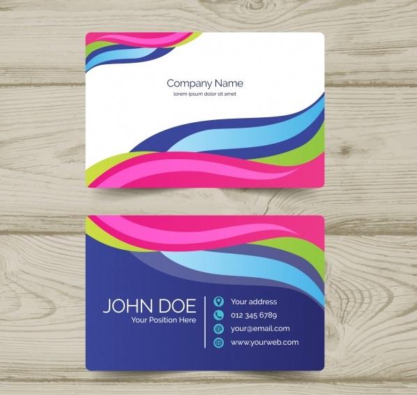 دانلود کارت ویزیت شرکتی با اشکال رنگارنگ