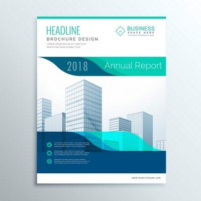 corporate blue brochur - دانلود تراکت کسب و کار طراحی ساختمان