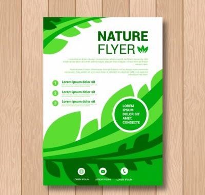 creative nature flyer template - دانلود تراکت طبیعت با پس زمینه سفید