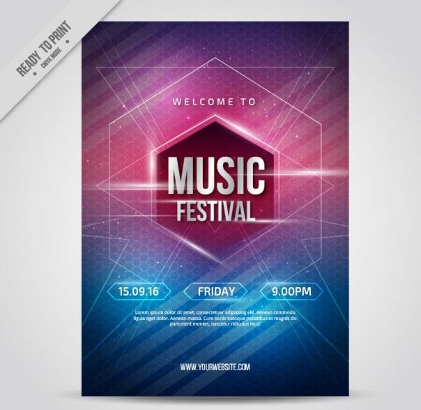 دانلود تراکت جشنواره موسیقی بصورت رایگان
